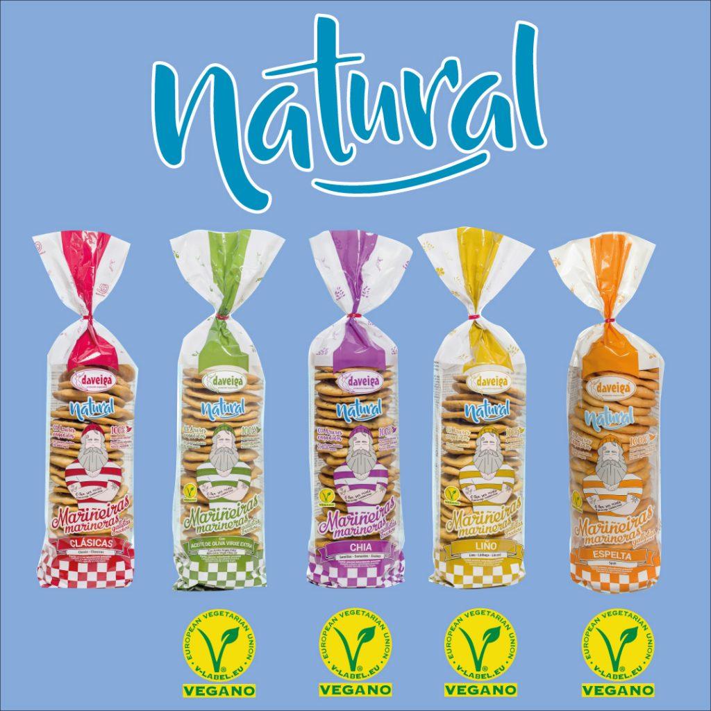 Variedad de galletas Marineras línea NATURAL